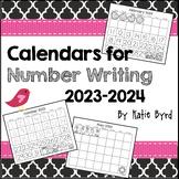 Calendars for Number Writing - Perpetual