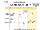 Calendars for School Year-Editable