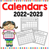 Calendars for the Year 2019-2020
