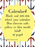 Calendars nautical colors