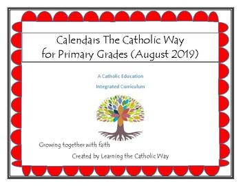 Calendars the Catholic Way (August 2019)