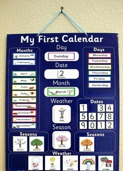 Calender Set with Headers and Patterning Pieces - month ,day ,season and weather