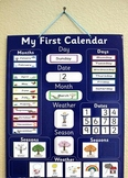 Calender Set with Headers and Patterning Pieces - month ,d