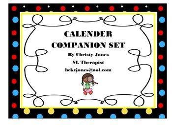 Calender Companion (for use with blank calenders)