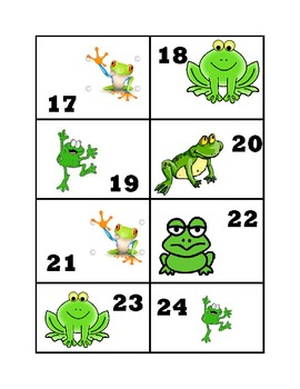 Calender Numbers--Frog Theme