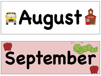 Calender Set with Headers and Patterning Pieces