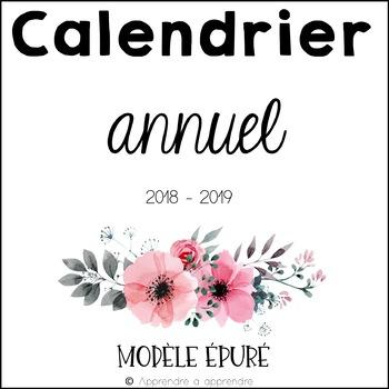 Calendrier 2018-2019 (épuré)