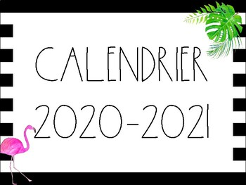 Calendrier Pro A 2020 2019.Calendrier 2019 2020 Theme Tropical Flamants By Mme