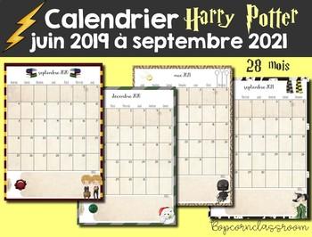 Calendrier 2021 Harry Potter Calendrier 2019 2021 Harry Potter by La classe de Marybop | TpT