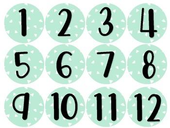 Calendrier Citrons - Dates et mois