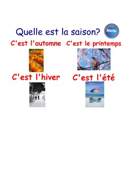 Le calendrier (French Calendar Fun & Games SMARTboard file)
