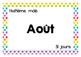 Calendrier - Mois de l'année - Texte - Tableau mureaux - P