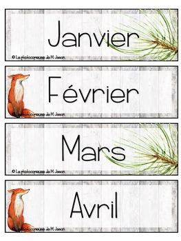 Calendrier // Renards & Forêts