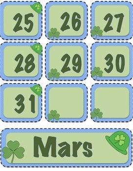 Calendrier de classe/ French class calendar