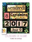 Calendrier de classe en français