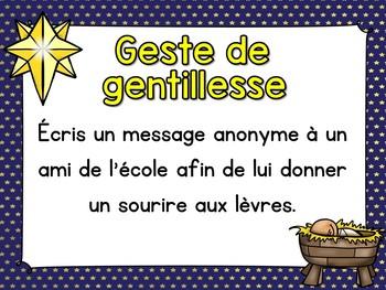 Calendrier de l'Avent - Gestes de gentillesse - Random Acts of Kindness