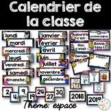 Calendrier de la classe - Ensemble d'étiquettes - Calendar kit - Espace