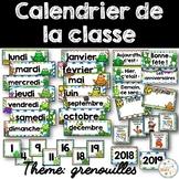 Calendrier de la classe - Ensemble d'étiquettes - Calendar kit - Grenouilles