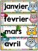 Calendrier de la classe - Ensemble d'étiquettes - Calendar kit - Hiboux