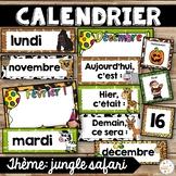 Calendrier de la classe - Ensemble d'étiquettes - Calendar kit - Jungle safari