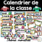 Calendrier de la classe - Ensemble d'étiquettes - Calendar kit - Monstres