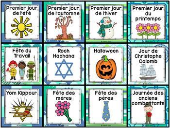 Calendrier de la classe - Ensemble d'étiquettes - Calendar kit - Océan