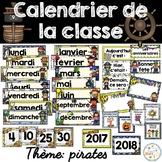 Calendrier de la classe - Ensemble d'étiquettes - Calendar kit - Pirates