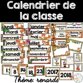 Calendrier de la classe - Ensemble d'étiquettes - Calendar kit - Renards