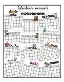 Calendriers mensuels couleur 2016-217