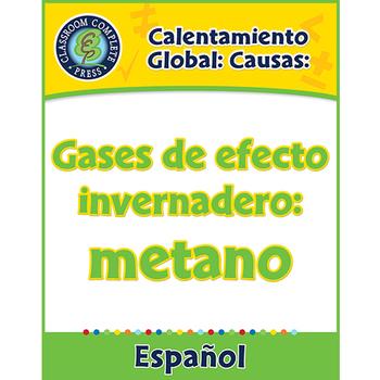 Calentamiento Global: Causas: Gases de efecto invernadero: metano Gr. 5-8
