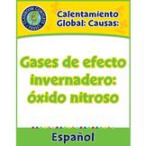 Calentamiento Global: Causas: Gases de efecto invernadero: óxido nitroso Gr. 5-8
