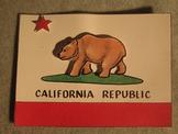 Califoria Flag Project. 3D Fun Craft Art