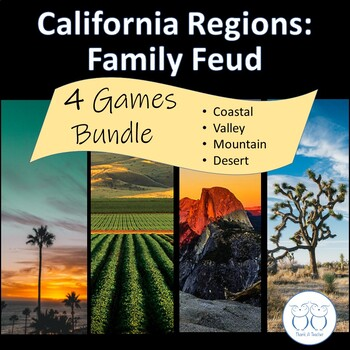 California 4 Region Family Feud Game Discounted Bundle