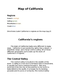 California 4 regions text and questions