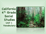 California 4th Grade SoSt Unit 1 Vocabulary Slide Presentation