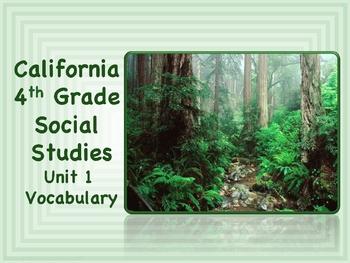 California 4th Grade SoSt Unit 1 Vocabulary Slide Presentation
