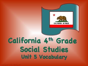 California 4th Grade SoSt Unit 5 Vocabulary Slide Presentation
