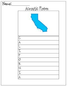 California Acrostic Poem