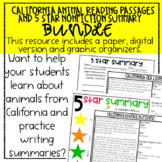 California Animal Passages and Nonfiction Summary Bundle-