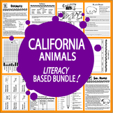 California Animals (NINE Vertebrates & Invertebrates Animal Adaptations Lessons)