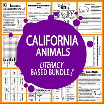 California Animals Bundle of 9 COMPLETE Lessons