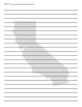 California Background Lined Paper