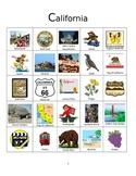 California Bingo:  State Symbols and Popular Sites