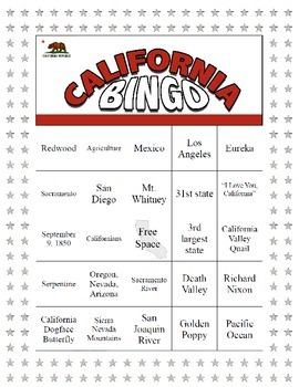 California Bingo