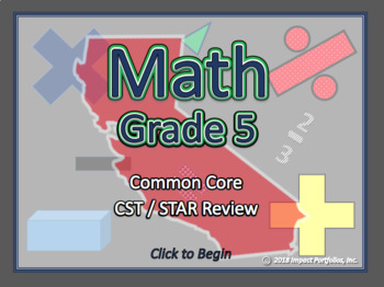 BOGO California CST / STAR Review  - 5th Grade Common Core Math Review Program