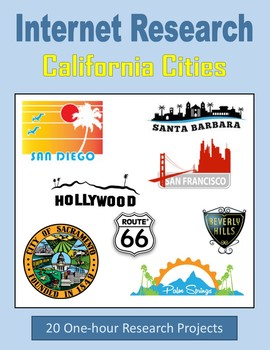 California Cities (One-hour Internet Research Projects)