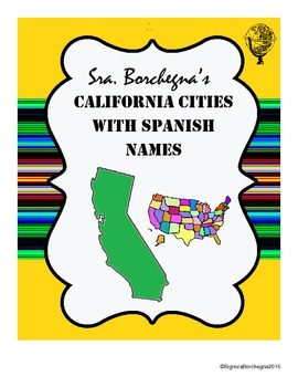 California Cities with Spanish Names - 4 pages with puzzles