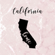 California Clipart, USA State Vector Clipart, California Home, Gold US Clipart