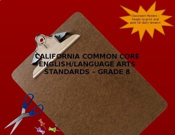 California Common Core ELA Standards Grade 8