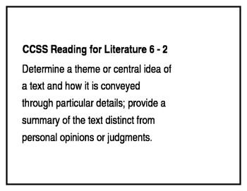 California Common Core ELA Standards for Grade 6